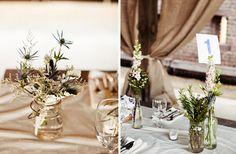 Florist: simple, green centerpieces
