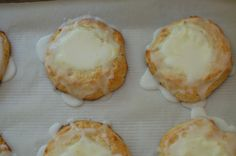 Lemon Cheese Danish with Lemon Icing