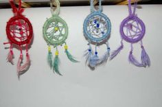 Cute and inexpensive mini dream catchers...  The therapist at work would love using this for her child clients!