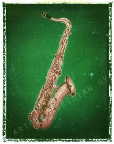 saxophone sax  music  art print  11 x 14  by artfulmusicianNY, $25.00
