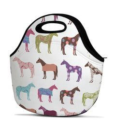 Fun Horse Pattern Equestrian Lunch Bag - The Painting Pony