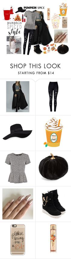 """Pumpkin Spiced"" by galaxy-moon-stars ❤ liked on Polyvore featuring San Diego Hat Co., Great Plains, Allstate Floral, Casetify and LumaBase"