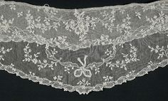 Pair of Engageantes | LACMA Collections France, circa 1770 Linen needle lace (point d'Alençon) a) 39 x 6 3/4 in. (99.06 x 17.15 cm); b) 39 x 3 in. (99.06 x 7.62 cm); c) 39 x 6 1/2 in. (99.06 x 16.51 cm); d) 38 x 3 1/4 in. (96.52 x 8.25 cm)