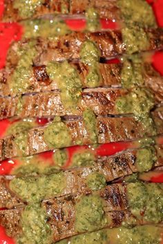 I have always been a huge fan of chimichurri sauce -- it explodes with herby, tangy flavor, and brings a lightness to whatever its served with. Thats why steak is such a classic pairing