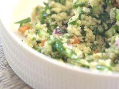 Bulgur tabouleh met spinazie en limoen