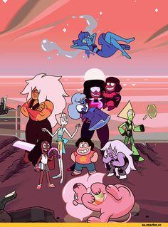 SU art,Steven universe,фэндомы,SU Персонажи,Garnet (SU),Ruby (SU),Sapphire (SU),Amethyst (SU),Pearl (SU),Steven (SU),Lapis Lazuli,Jasper,Peridot