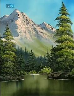 How Much Do Bob Ross Paintings Sell For : paintings, Ella's, Board, Ideas, Paintings,, Landscape, Mountain, Paintings
