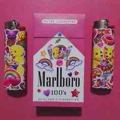 Пачка сигарет, зажигалка