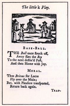 A page from the games and amusements section of A Little Pretty Pocket-Book considered the first children's book.