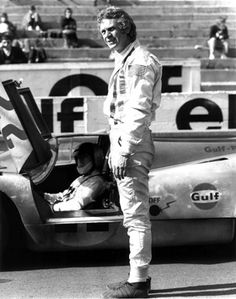 Steve McQueen and Porsche 917 at the set of movie Le Mans Steve Mcqueen Le Mans, Steven Mcqueen, Steve Mcqueen Motorcycle, Jackie Stewart, Porsche, Steeve Mac Queen, Jaguar, Ferrari, Happy 80th Birthday