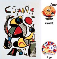 Cartel oficial de la Copa del Mundo España 1982 realizado por el artista Joan Miró i Ferrà / Official poster of the FIFA World Cup Spain 1982 made by the artist Joan Miró Ferrà