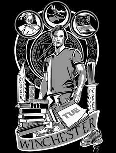 SAM NOUVEAU T-Shirt $12 Supernatural tee at Once Upon a Tee!