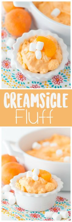 This creamsicle fluff is a delicious picnic ready jello salad. It's full of flavor and you only need a few simple ingredients!