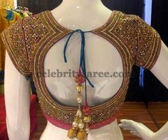 Glass Work Customized Blouse | Saree Blouse Patterns