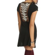 NWOT Spine Dress New without tags hot topic spine dress. Black dress with lace spine detailing on the back. Hot Topic Dresses