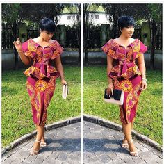 Super Stylish and Vibrant Ankara Skirt and Blouse Styles for Beautiful Ladies.Super Stylish and Vibrant Ankara Skirt and Blouse Styles for Beautiful Ladies African Inspired Fashion, Latest African Fashion Dresses, African Dresses For Women, African Print Dresses, African Print Fashion, African Attire, African Wear, African Prints, African Women