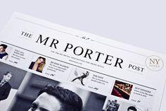 Masthead design for The Mr Porter Post #design #masthead #editorial