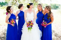 Wedding Blue Bridesmaids http://www.coryryan.com/