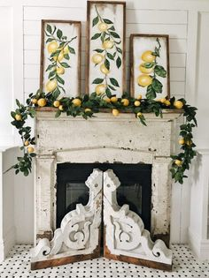 Summer Lemon Mantel