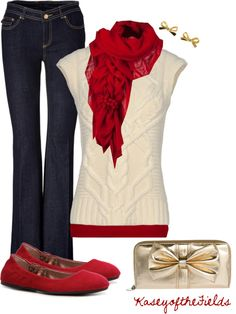 """""""Deck the Halls"""" by kaseyofthefields on Polyvore. Holiday ♥✤ I SOOOO want this outfit!!"""