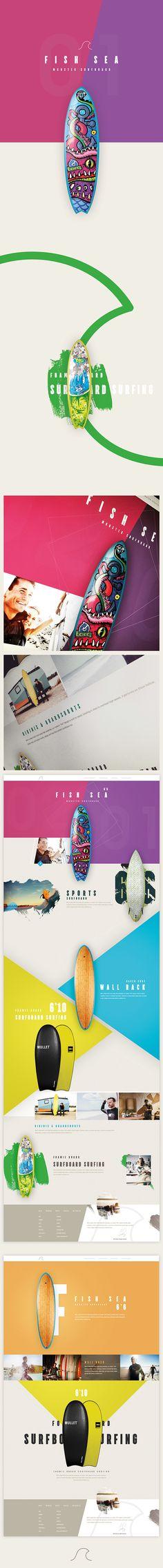 Surf Board Modern Website Design 2015