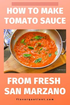 Learn how to make Tomato Sauce from Fresh San Marzano tomatoes! Watch step by step video to make easy tomato sauce for pasta, pizza and many more! Failproof tomato sauce recipe from fresh tomatoes. | homemade tomato sauce | tomato sauce from fresh tomato | marinara sauce | tomato sauce recipe | how to make tomato sauce | #tomatosauce #marinarasauce #pizzasauce #pastasauce
