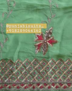 Embroidery Suits Punjabi, Embroidery Suits Design, Hand Work Embroidery, Embroidery Dress, Designer Punjabi Suits, Indian Designer Wear, Ladies Suits Indian, Gota Patti Saree, Ethinic Wear