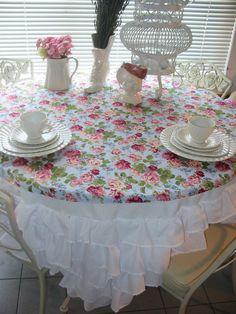 TuTu Ruffled Tablecloth EXCLUSIVE Ruffled Tutu Tablecloth, Shabby Chic  Linens, Cotton Linens, Tableware, | Comedor Shabby | Pinterest | Tutu  Tablecloth, ...
