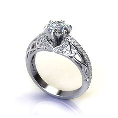 Trinity Knot Engagement Ring - Jewelry Designs