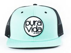 b5af989038c Black + Seafoam Pura Vida Snapback - Stay on top of your Pura Vida game  with our new