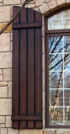 Exterior Wood Shutters Wood Shutters Outside Window