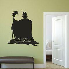 Maleficent - Disney Villain Vinyl Wall Art, Halloween Decor,  Playroom Decals, Sleeping Beauty Art, Disney Classics