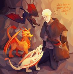 I've been dreaming of drawing some dragons for such a long time and here they are with some drarry in the background, ahaha. Harry Potter Cursed Child, Harry Potter Comics, Harry Potter Draco Malfoy, Draco And Hermione, Harry Potter Drawings, Harry Potter Ships, Harry Potter Anime, Harry Potter Fan Art, Harry Potter Fandom