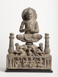 Description: 2-3TH CENTURY; PAKISTAN‧AFGHANISTAN, GANDHARA Dimensions: H25cm