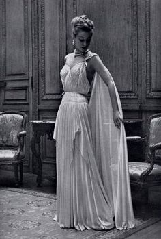 Maggy Rouff Grecian Style Gown 1950s