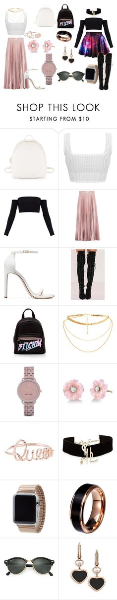 """""""A Savage Queen."""" by kaleimanaokeaoola on Polyvore featuring Steve Madden, Christopher Kane, Stuart Weitzman, Nine West, Irene Neuwirth, Yves Saint Laurent, Ray-Ban, Chopard, LoveThyself and measme"""