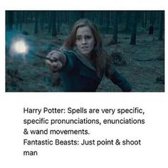 In fantastic beasts they used disapperating to move quickly from one spot to a short distance. Harry Potter it was all planned out very calmly and precisely Harry Potter Quotes, Harry Potter Fandom, Harry Potter World, Percy Jackson, Hogwarts, Hufflepuff Pride, Ravenclaw, No Muggles, Yer A Wizard Harry