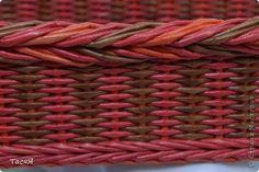 Поделка изделие Плетение Подносики-разносики и др   Трубочки бумажные фото 15