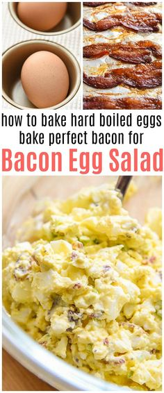 Bacon Egg Salad on a toasty English Muffin quick and easy breakfast recipe via @CourtneysSweets