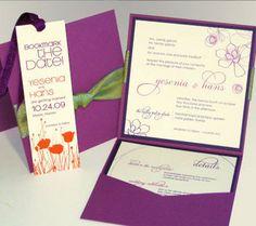 Wedding, Purple, Invitations, Garden, Florida, Miami