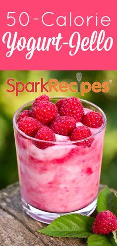 Yogurt Jello Recipe via @SparkPeople ( use nonfat yogurt to keep it simply filling)