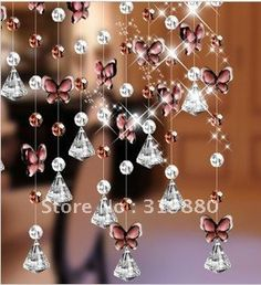 On sale!!! Wholesale Gao Guizhongzi butterfly and 32 section beads mixed through K9 crystal bead curtain curtain partition-in Curtains from Home & Garden on Aliexpress.com
