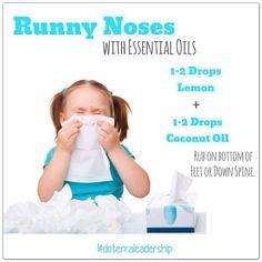 Home remedy for runny noses #cold #flu #essentialoils