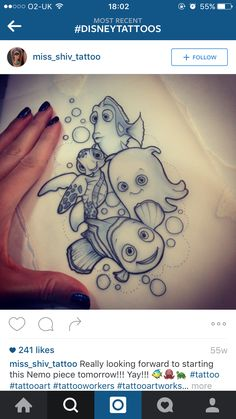 Finding Nemo #TattooIdeasDisney