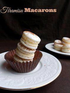 Tiramisu Macarons #recipe from culinarycoutureblog.com