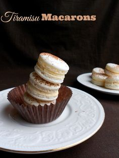 Tiramisu Macarons #recipe from culinarycoutureblog.com