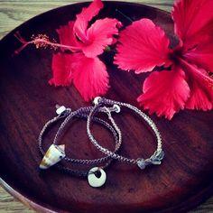 Seashell and Fluorite Hemp Stack