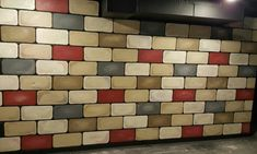 Painted cinderblock wall