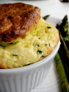 The Bojon Gourmet: Green Garlic, Chive, and Cheese Souffles, and Roasted Asparagus