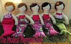 Mermaid doll with tutorial